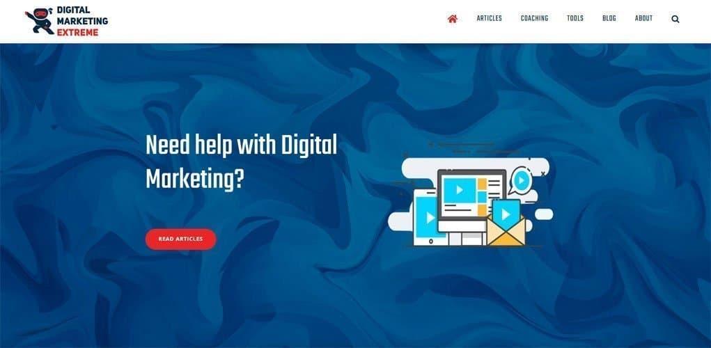 Digital Marketing Extreme website