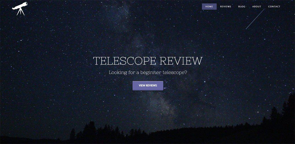 Telescope Review website