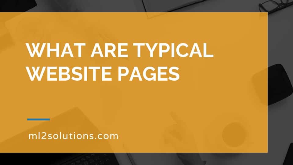 What are typical website pages