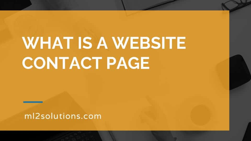 What is a website contact page