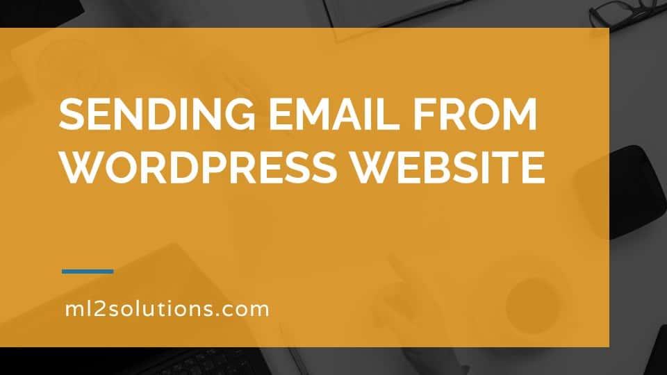 Sending email from WordPress website